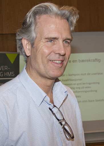 BNL-direktør Jon Sandnes sier at permitteringsregelverket er det viktigste å endre i ny arbeidsmiljølov. Foto: Knut Randem.